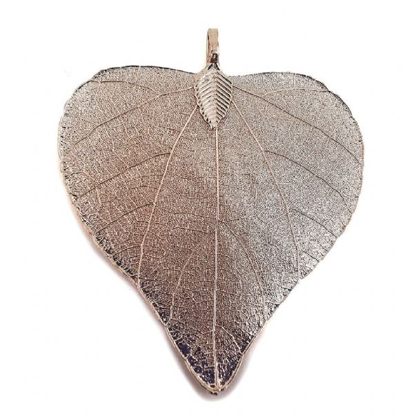 Champagne Plated 'Heart' Leaf